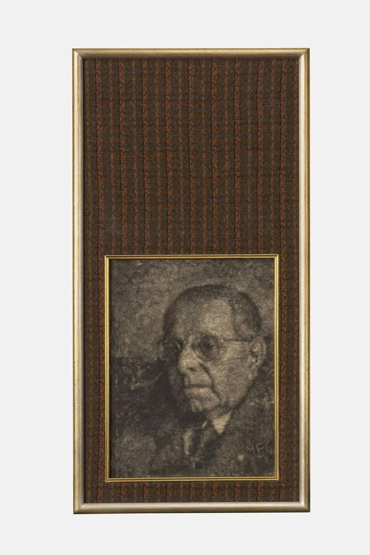 Obra ampliada: Sin título  - (Retrato con fondo marrón) - Manuel Espínola Gómez
