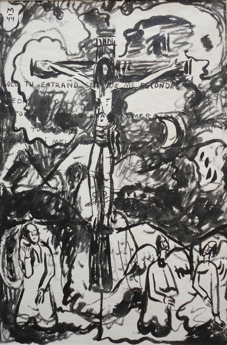 Obra ampliada: Crucifixión - Francisco Matto