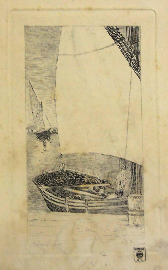 Obra ampliada: En el puerto de Livorno - Domingo Laporte