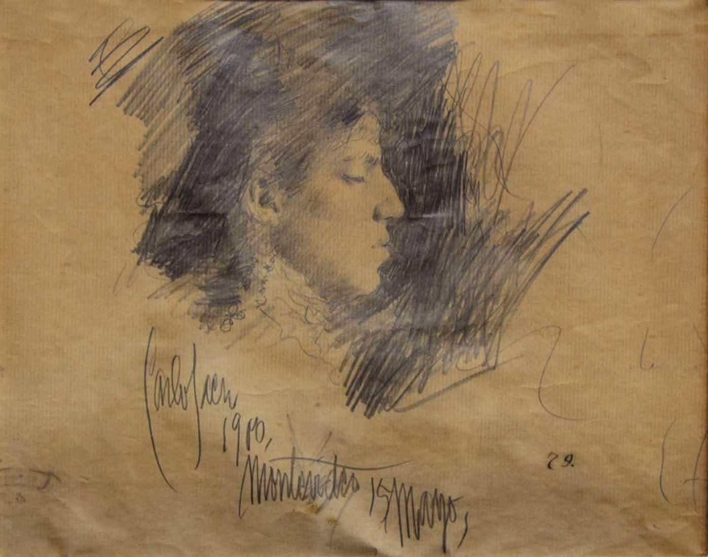 Obra ampliada: Retrato de María Luisa Sáez - Carlos Federico Sáez