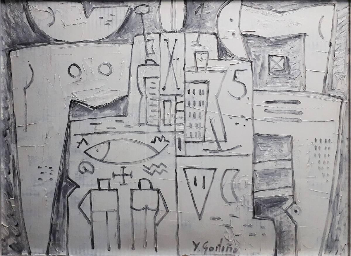 Obra ampliada: Constructivo en Blanco y Gris - Héctor Goitiño