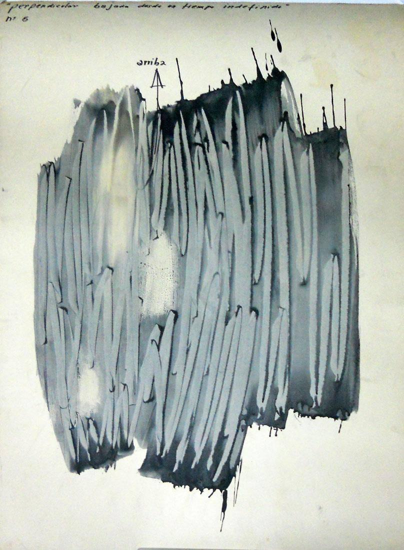 Obra ampliada: Nº 5 Perpendicular bajada desde un tiempo indefinido   - Raúl Zaffaroni
