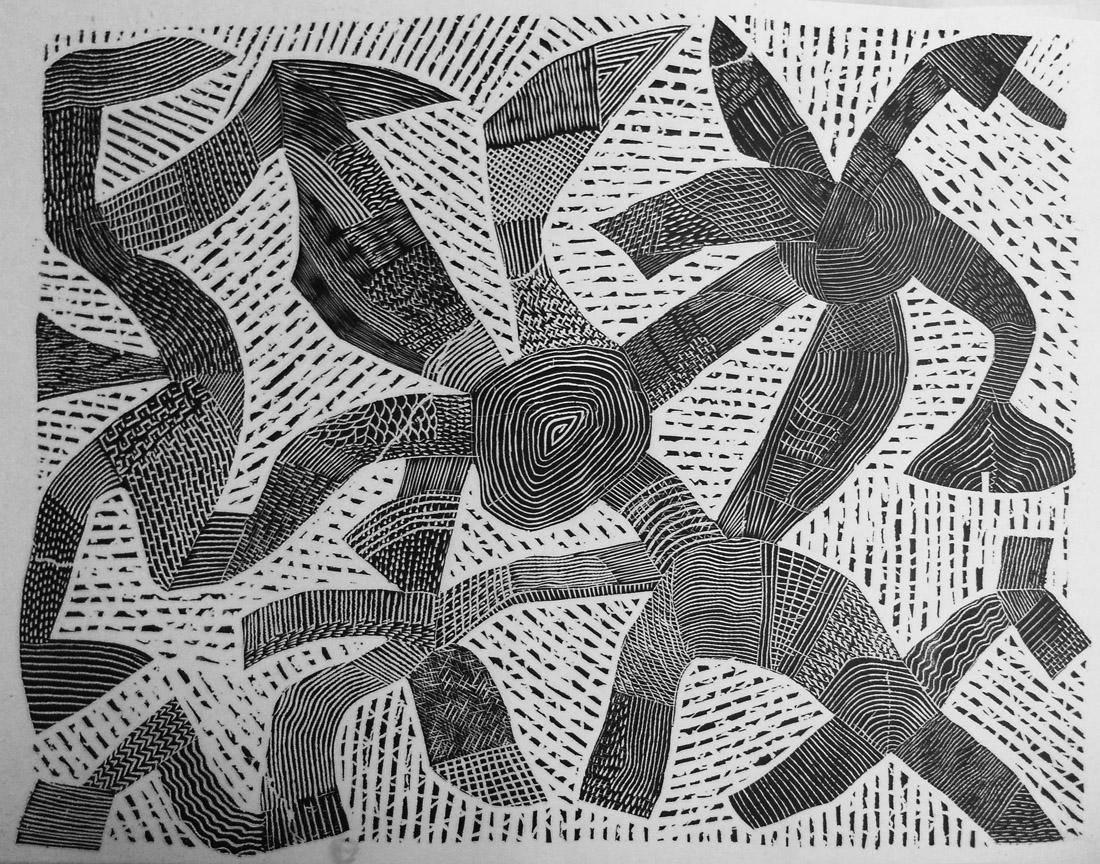 Obra ampliada: Gravura H - Arnaldo Pedroso D Horta