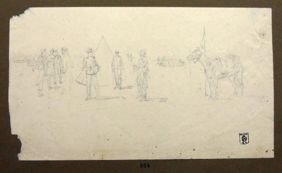 Obra ampliada: Escena militar - Diógenes Hequet