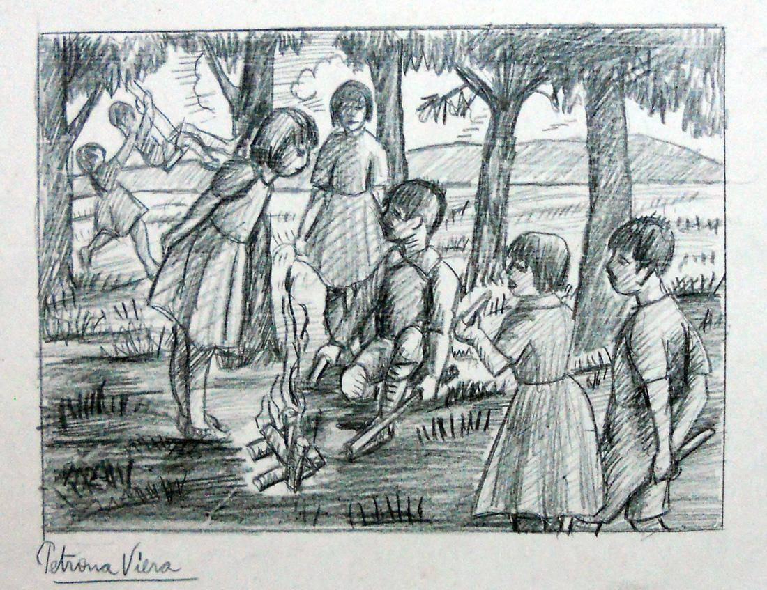 Obra ampliada: Niños - Petrona Viera