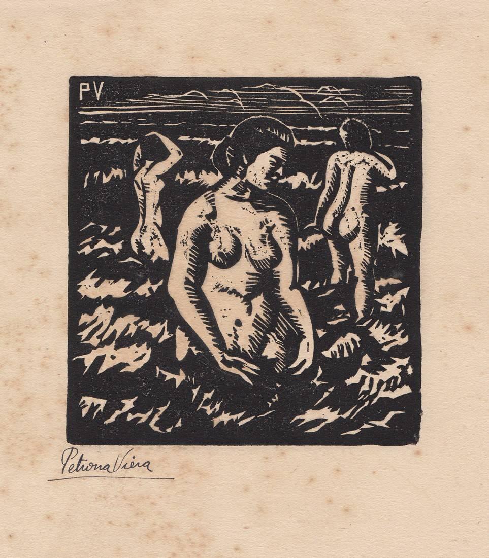 Obra ampliada: Muchachas en el baño - Petrona Viera