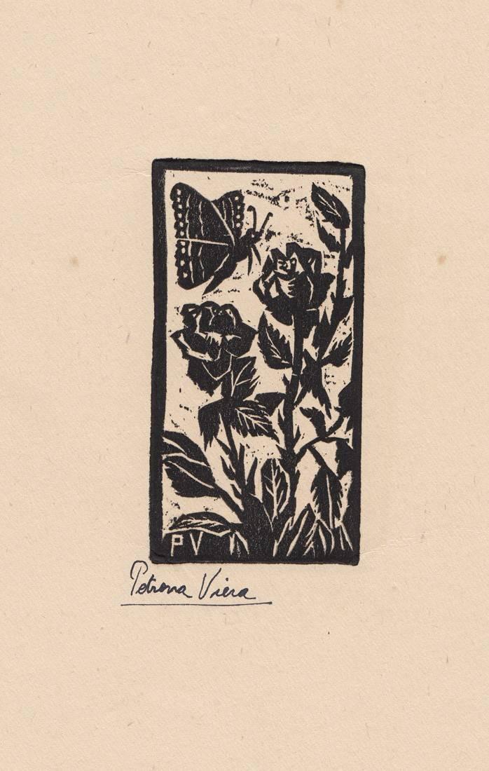 Obra ampliada: Rosas y mariposas - Petrona Viera