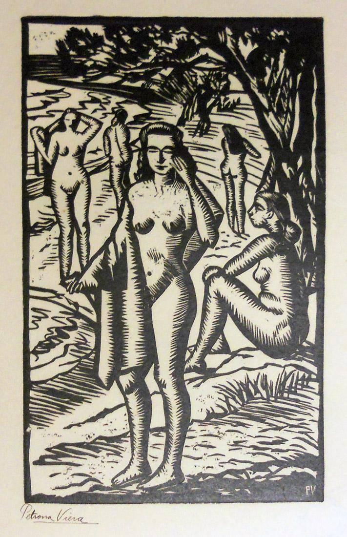 Obra ampliada: Desnudos en la playa - Petrona Viera