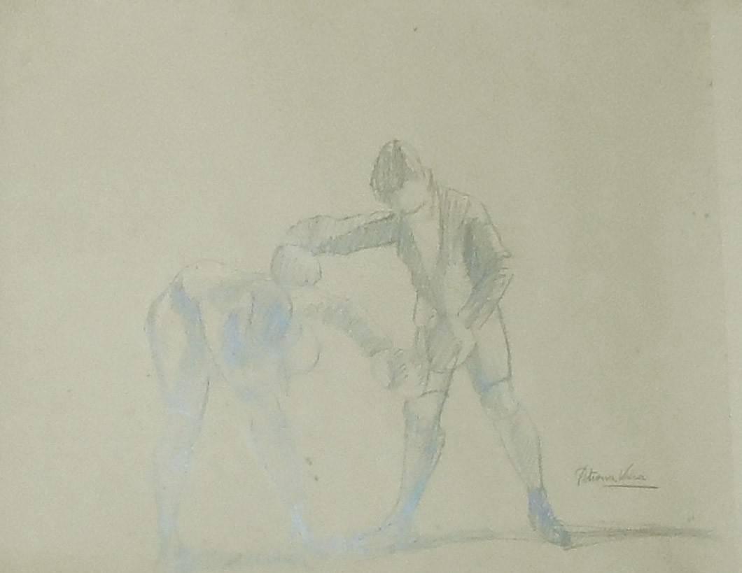 Obra ampliada: Niños boxeando - Petrona Viera