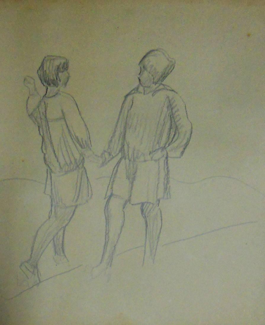 Obra ampliada: Dos niñas - Petrona Viera