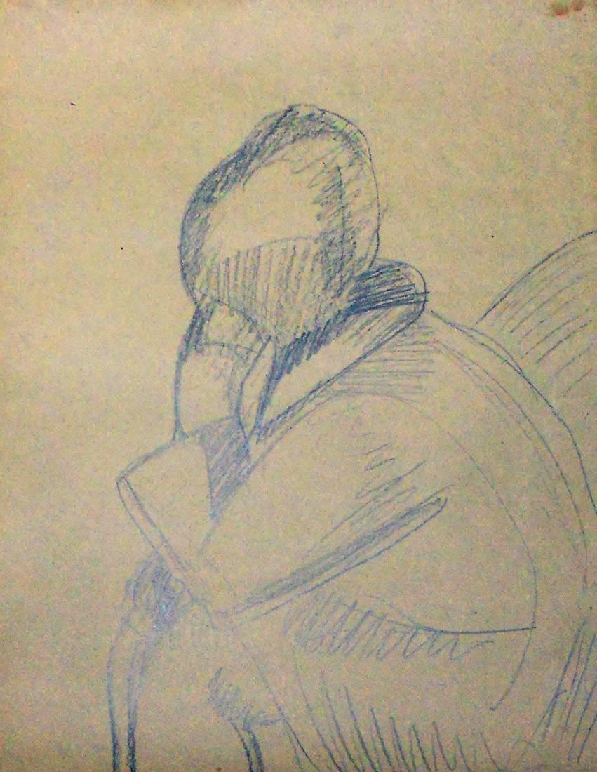 Obra ampliada: Boceto de mujer - Petrona Viera