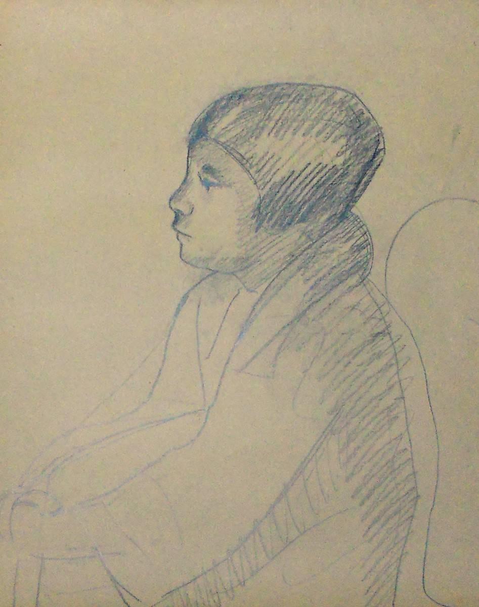 Obra ampliada: Boceto de niña - Petrona Viera