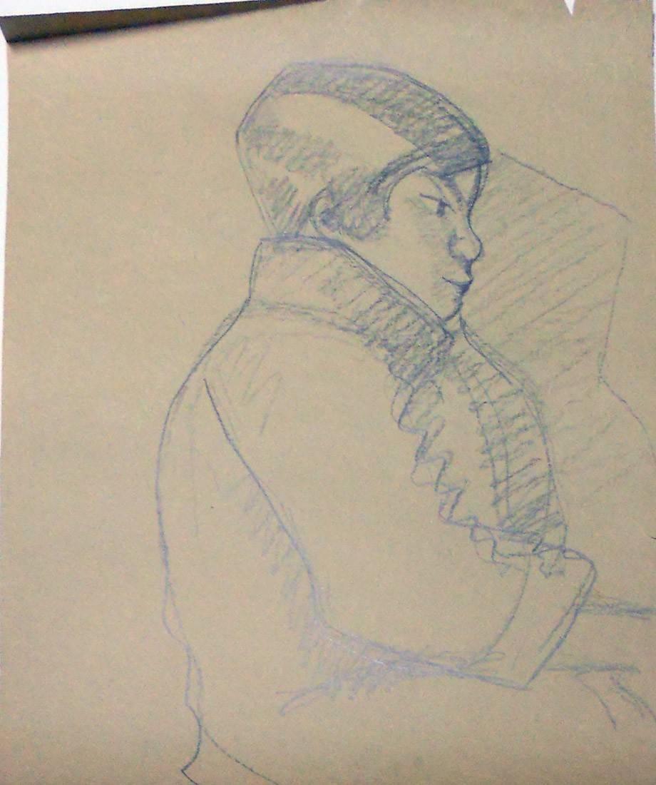 Obra ampliada: Boceto de niño - Petrona Viera