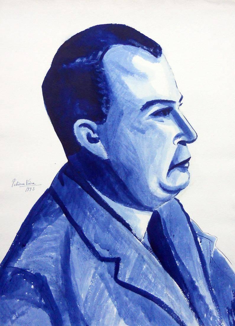 Obra ampliada: Sin Título (perfil de hombre) - Petrona Viera