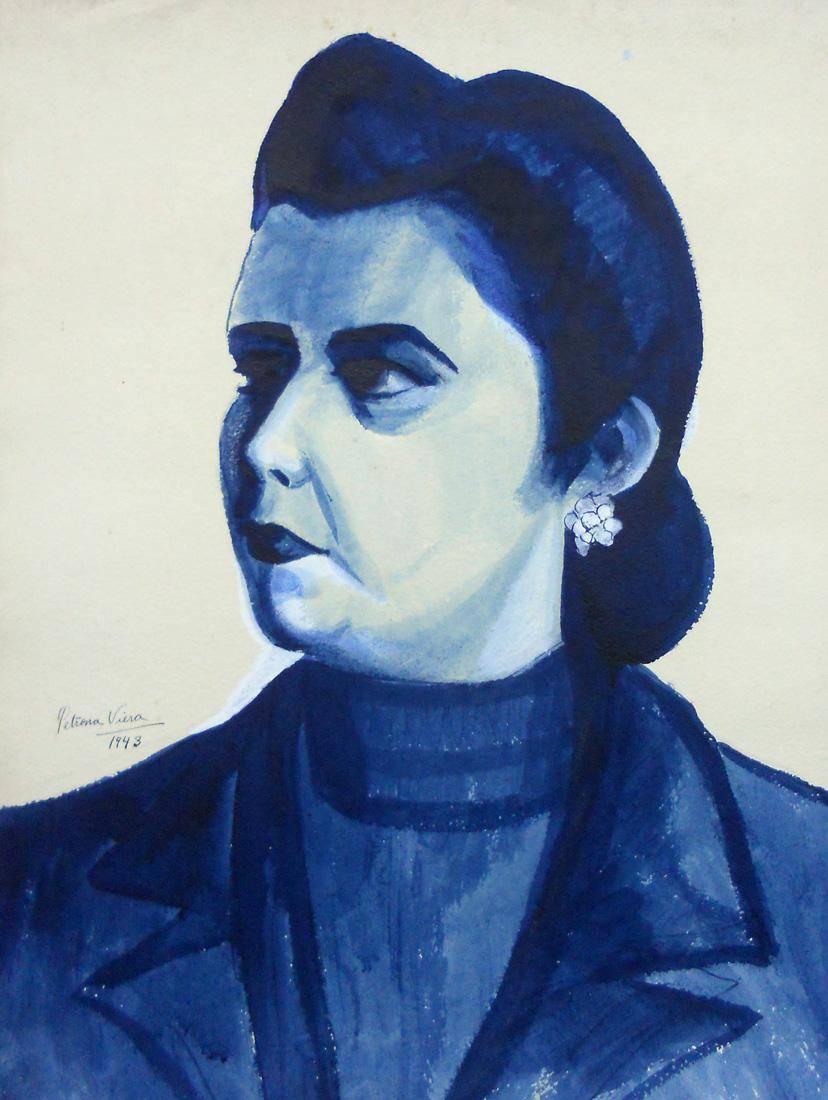 Obra ampliada: Sin Título (retrato de señora) - Petrona Viera