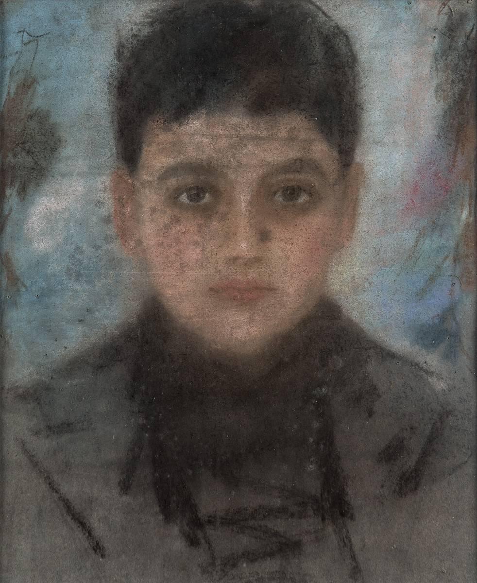 Obra ampliada: Retrato de niño - Petrona Viera