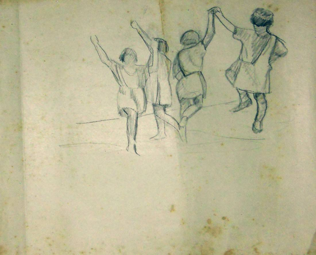 Obra ampliada: Niñas bailando - Petrona Viera