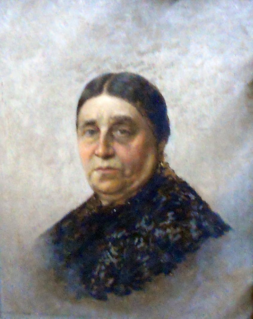 Obra ampliada: La esposa del pintor - Juan Manuel Blanes