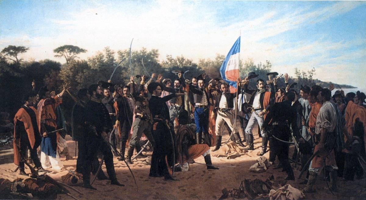 Obra ampliada: El juramento de los 33 Orientales - Juan Manuel Blanes
