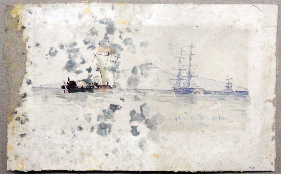 Obra ampliada: Antiguo barco correo - Manuel Larravide