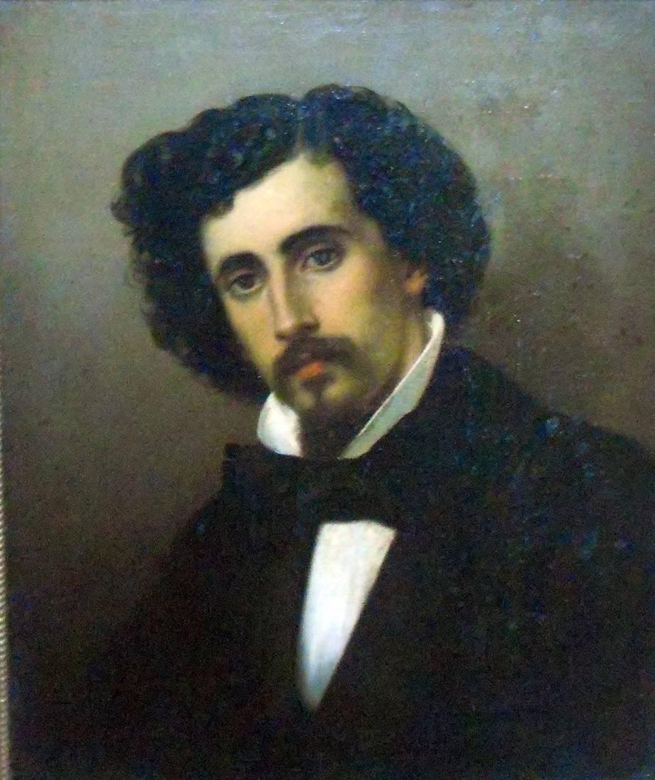 Obra ampliada: Retrato del pintor Eduardo Carbajal - Stefano Ussi