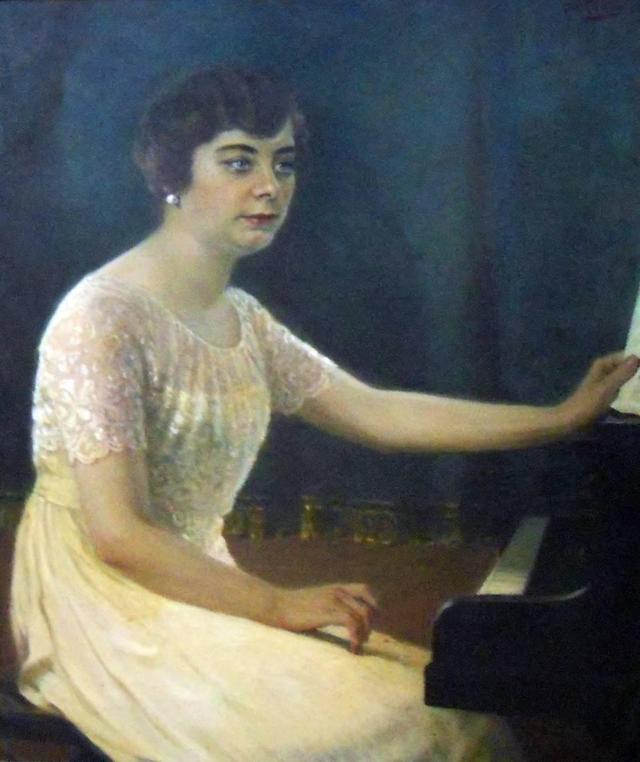 Obra ampliada: Retrato (Sra. J Colombi de Meneses) - Manuel Barthold