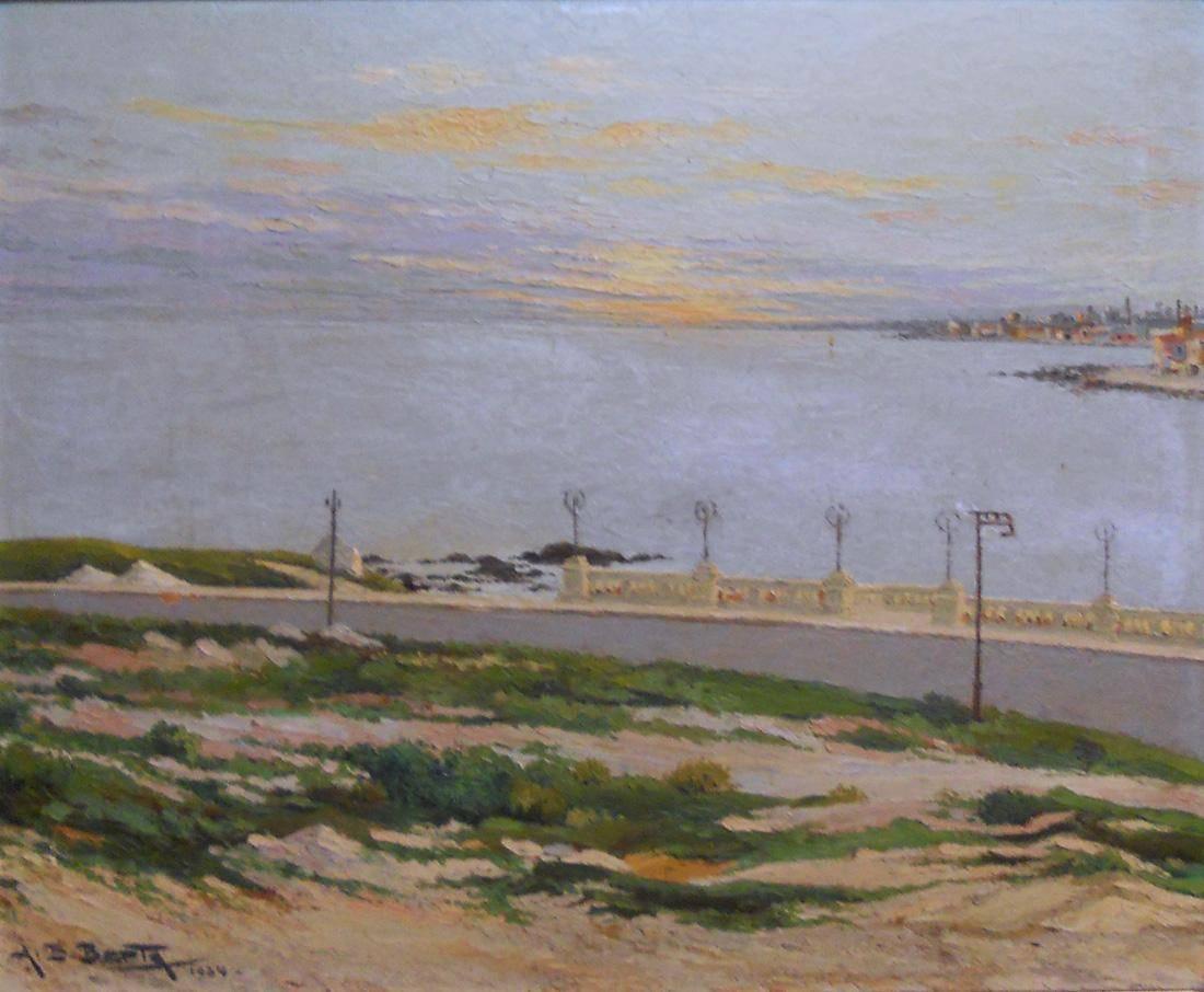 Obra ampliada: Puesta de sol - Alfredo Eugenio Berta
