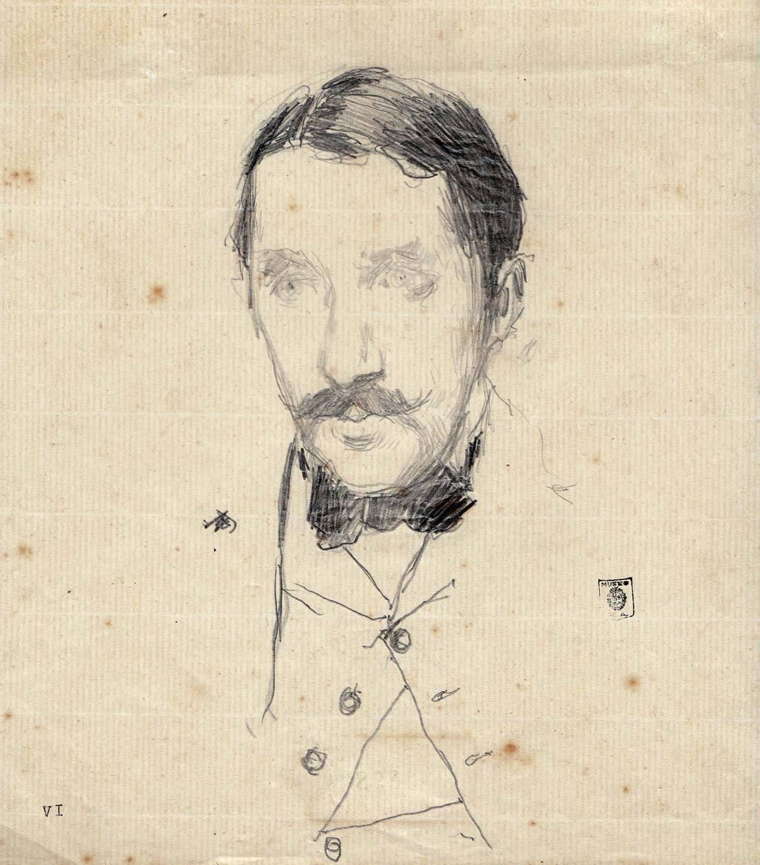 Obra ampliada: Retrato de Eduardo Mario Sáez  - Carlos Federico Sáez