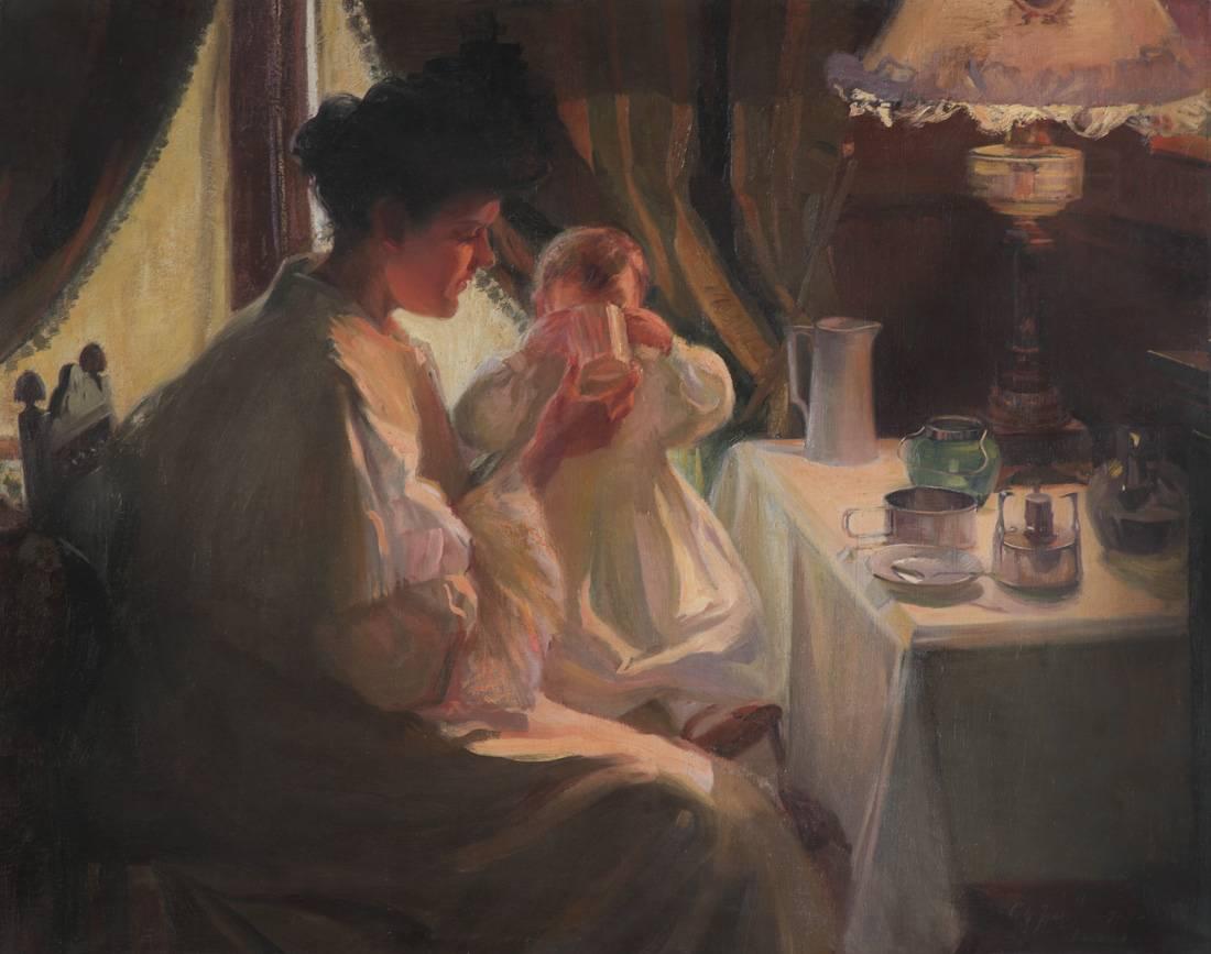 Obra ampliada: Maternidad - Carlos María Herrera