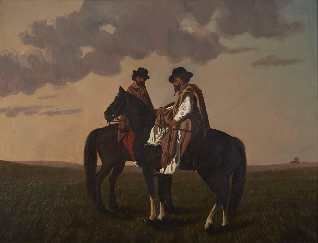Obra ampliada: Gauchos - Juan Manuel Blanes