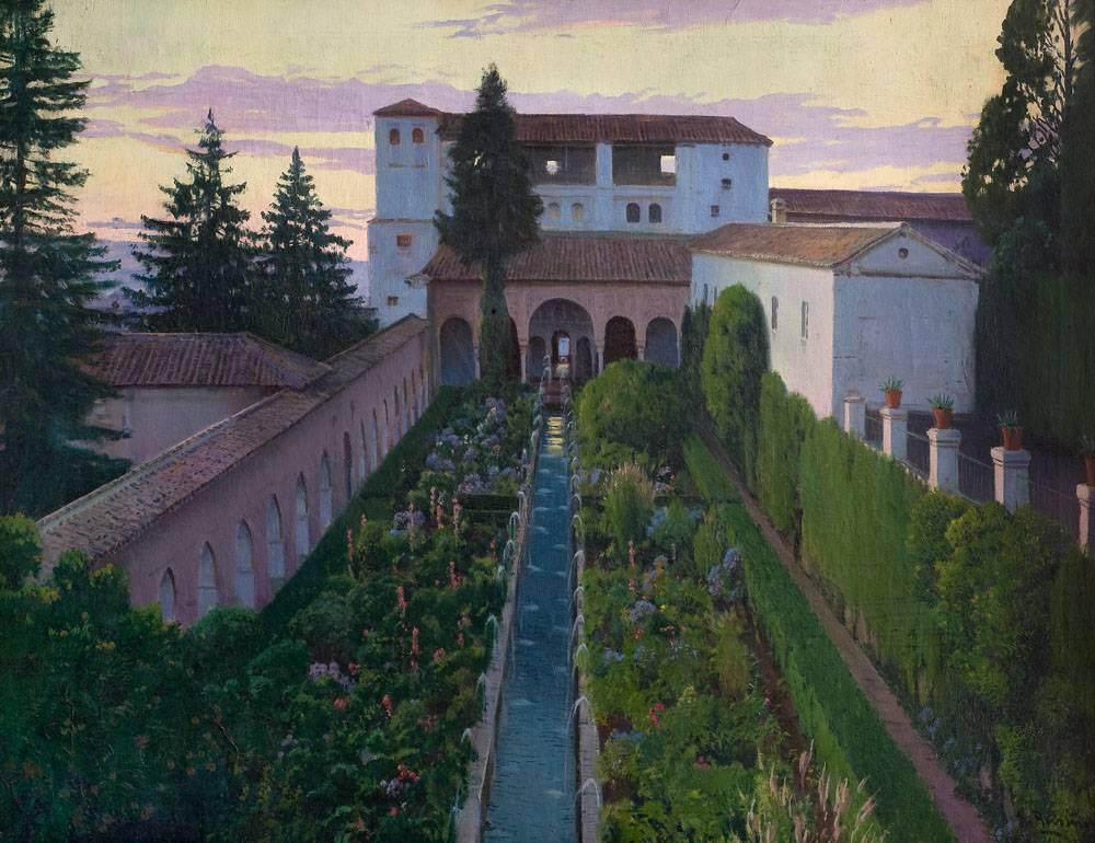Obra ampliada: CanaldelGeneralife(Granada) - Santiago Rusiñol