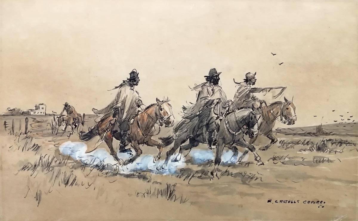 Obra ampliada: Saliendo de recorrida - Enrique Castells Capurro